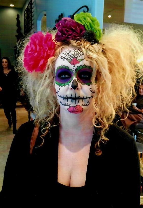dia de los muertos  makeup costume